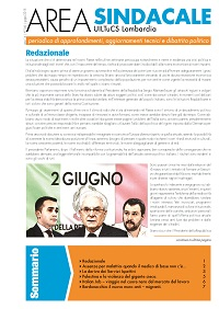 Area Sindacale n. 146 - Giugno 2018