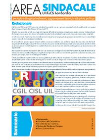 Area Sindacale n. 169 - Maggio 2020